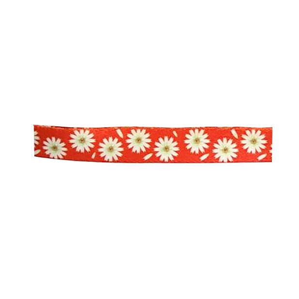 Flower 5' Dog Leash by Cha-Cha Couture - Orange