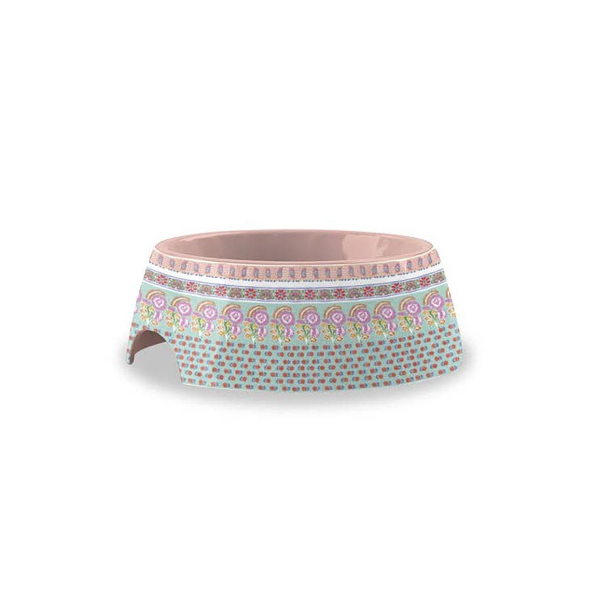 Flower Fields Extra Small Pet Bowl by TarHong - Pink