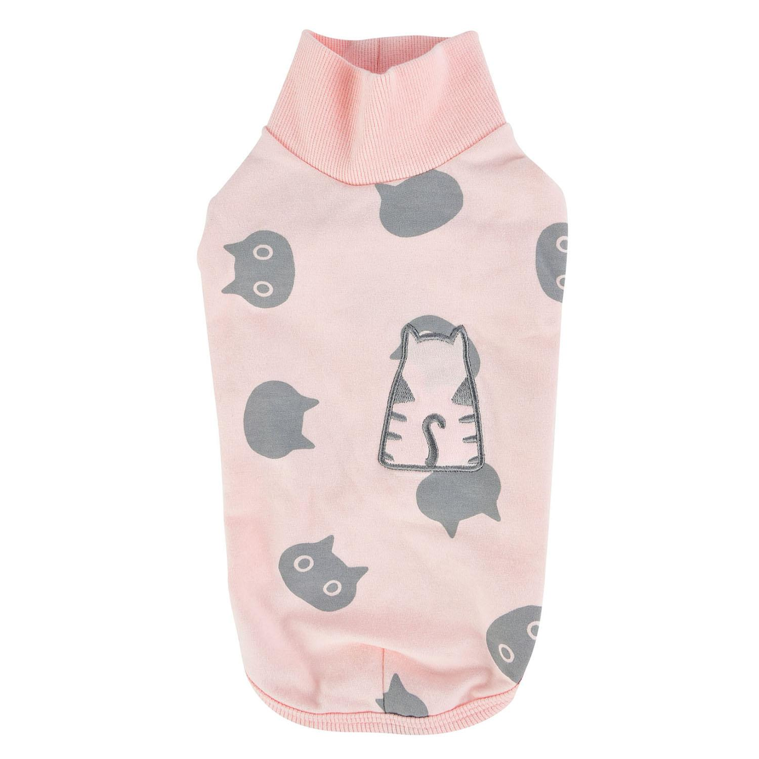 Boo Turtleneck Cat Shirt by Catspia - Pink