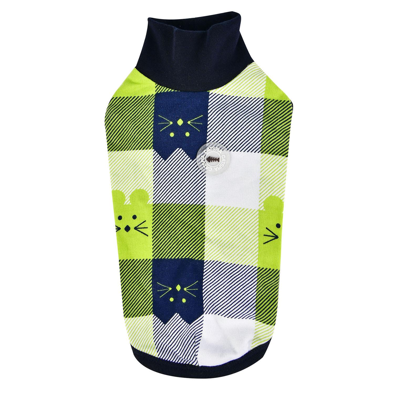 Fonzie Turtleneck Cat Shirt by Catspia - Navy