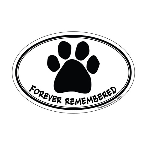 Forever Remembered Oval Magnet
