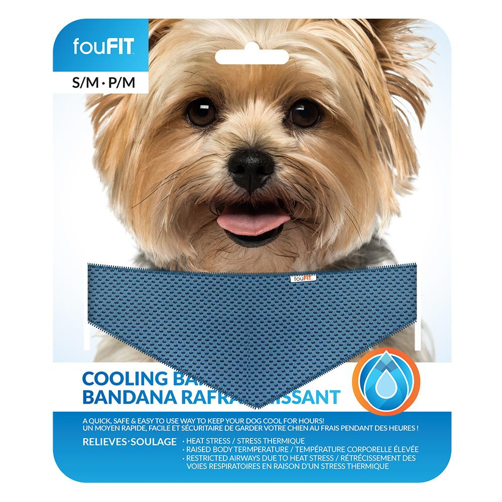 FouFIT Dog Cooling Bandana - Blue