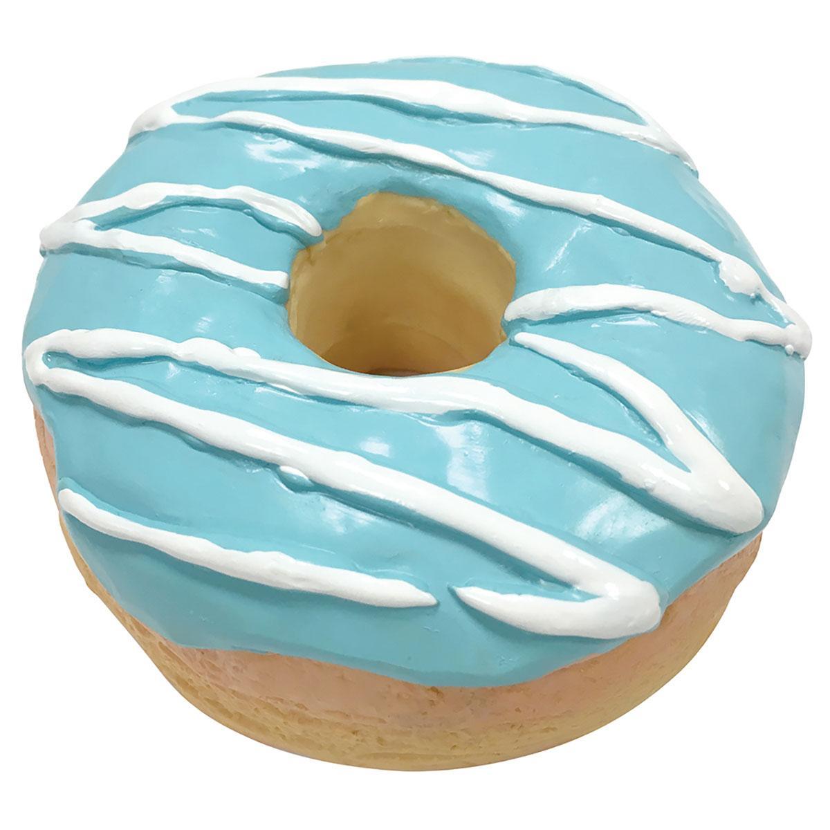 foufou Dog Donut Chew Latex Dog Toy - Blue