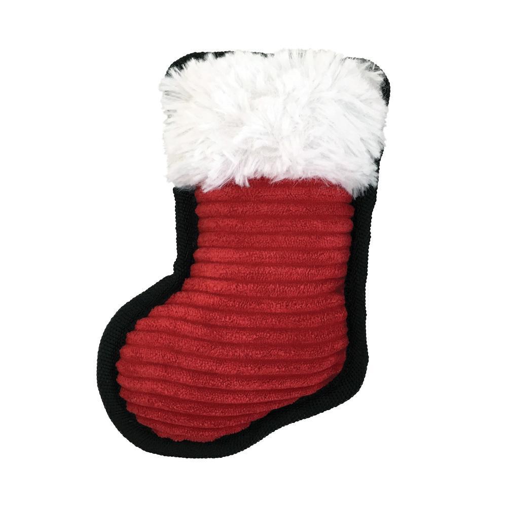 FouFou Dog Holiday Cutout Tough Dog Toy - Stocking