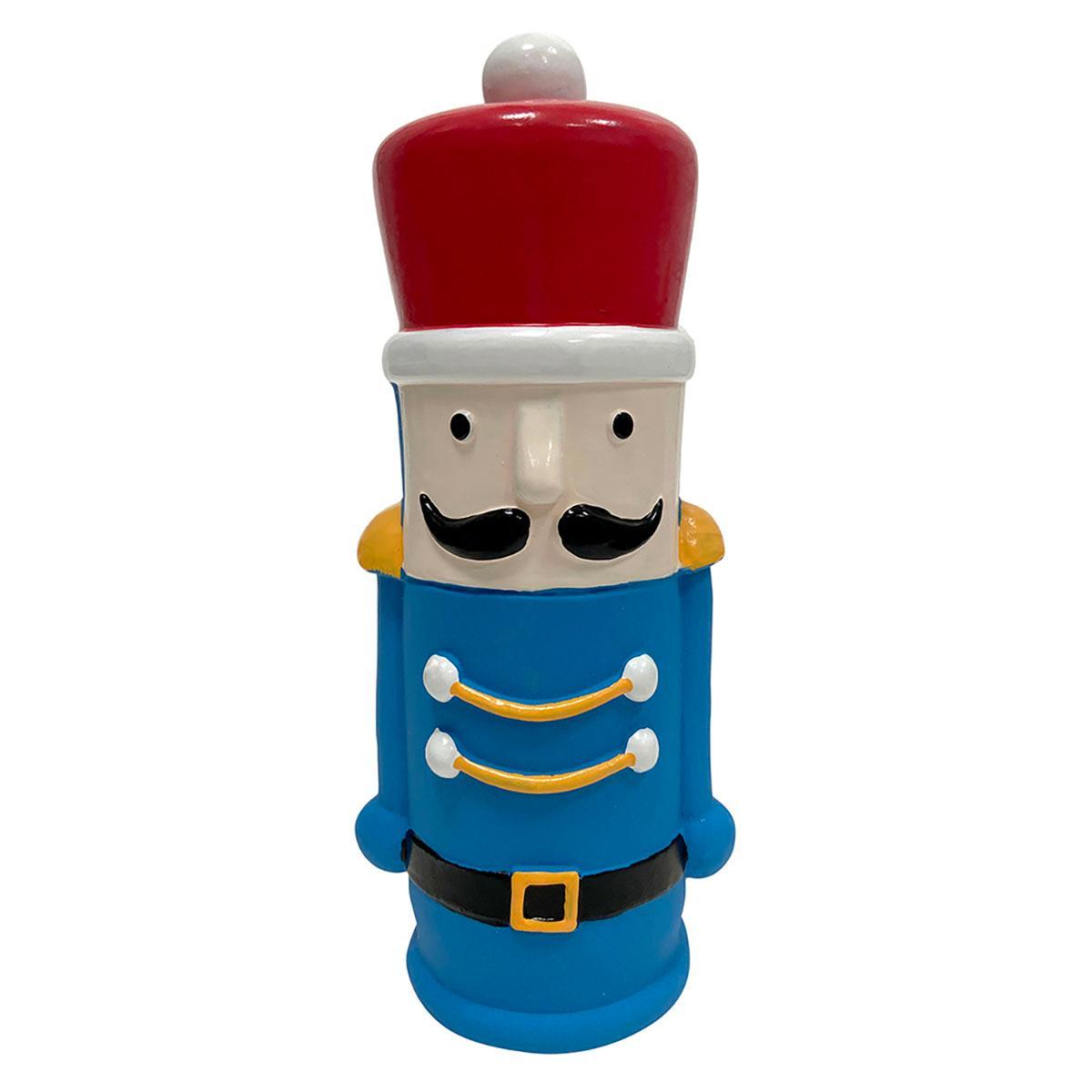 foufou Dog Nutcracker Crunchers Latex Dog Toy - Toy Soldier