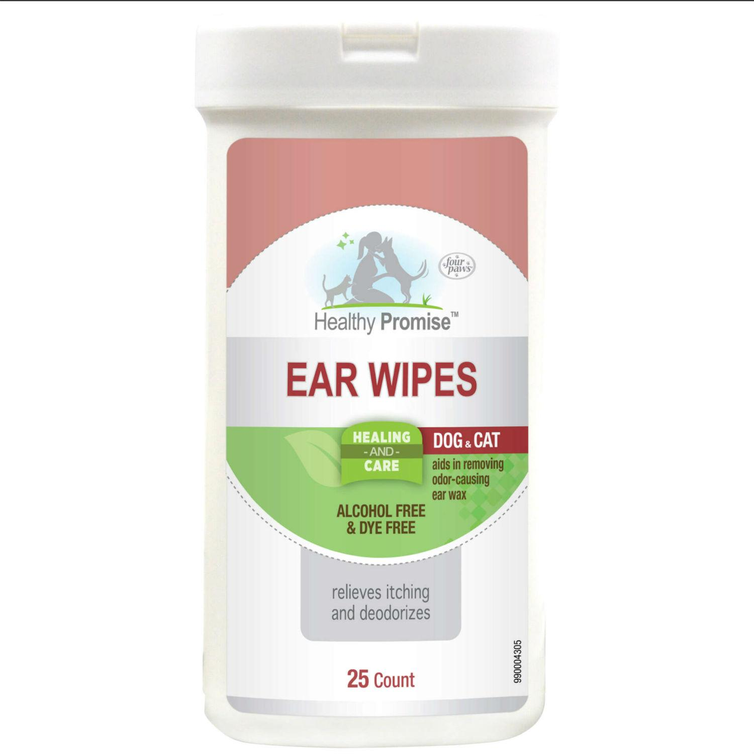 Four Paws Healthy Promise Dog & Cat Ear Wipes