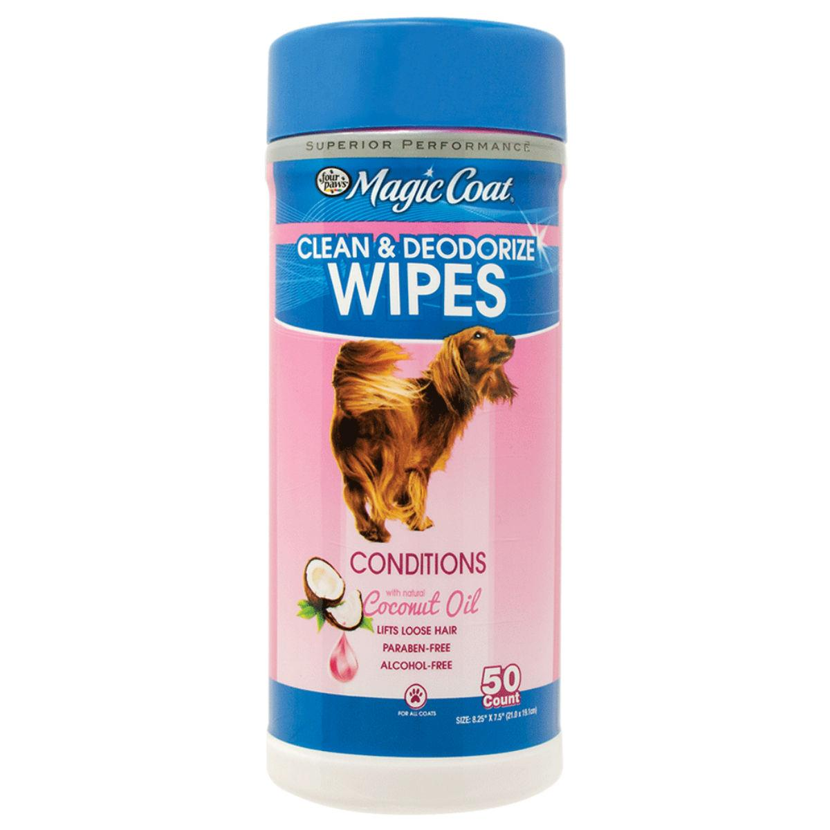 Four Paws Magic Coat Essential Coconut Oil Pet Wipes