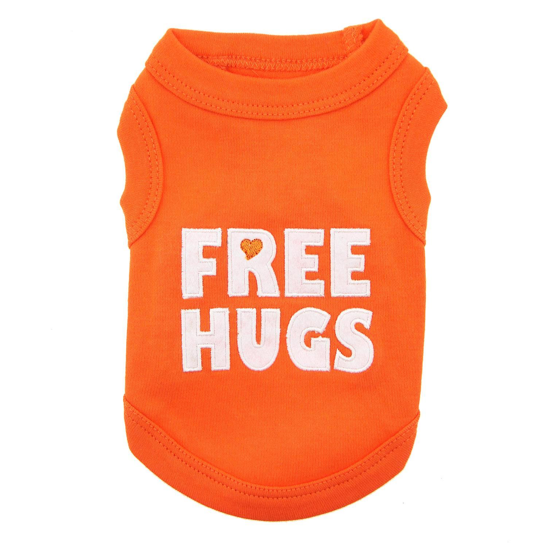 Free Hugs Dog Tank by Parisian Pet - Orange