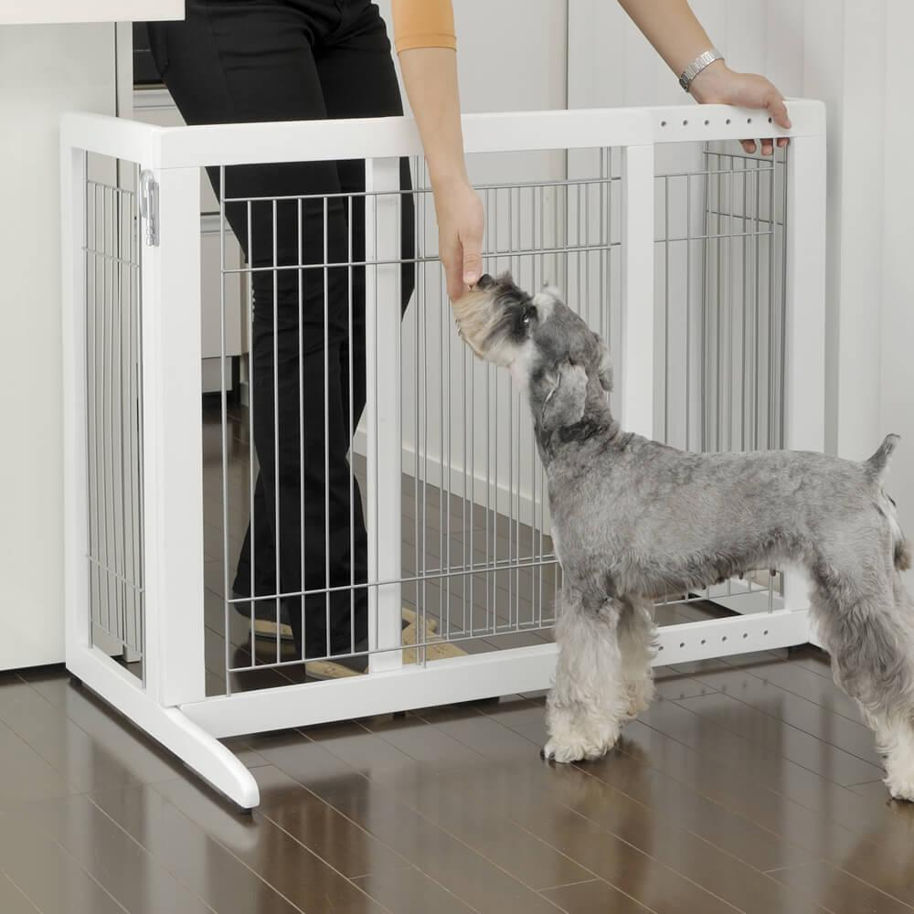 Freestanding Dog Gate - H Series - Origami White