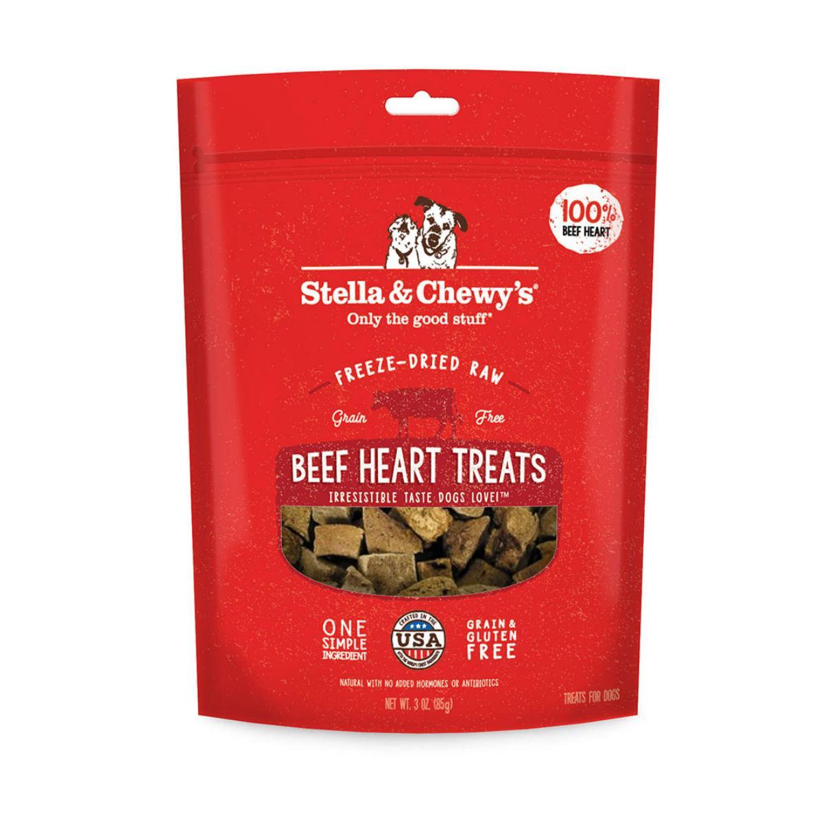 Stella & Chewy's Freeze Dried Beef Heart Dog Treats