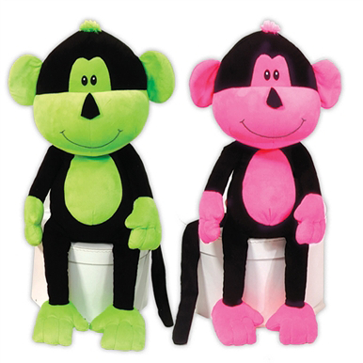 Frick n Frack Two Furrs Dog Toy - Neon Monkeys