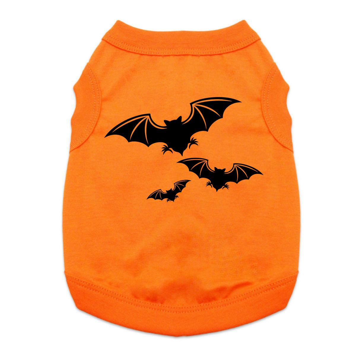 Halloween Bats Dog and Cat Shirt - Orange