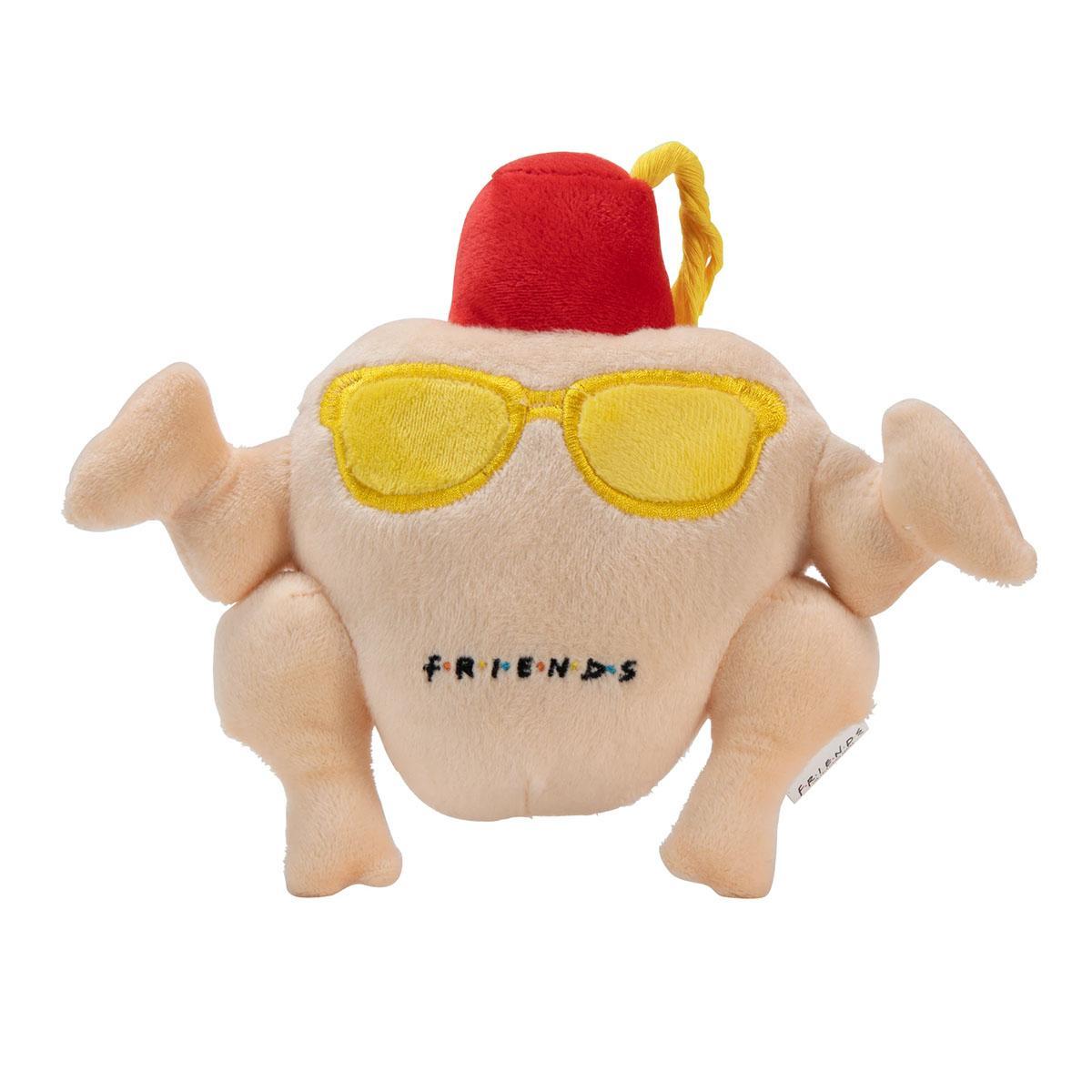 FRIENDS: Turkey Head Plush Squeak Dog Toy