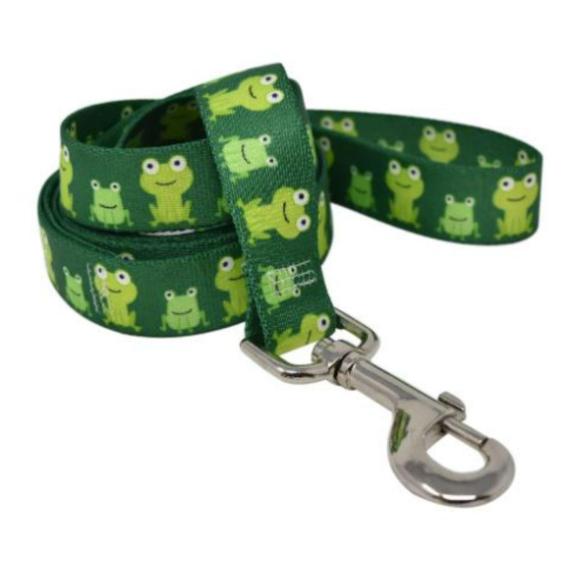 Frog Frenzy Dog Leash by Yellow Dog