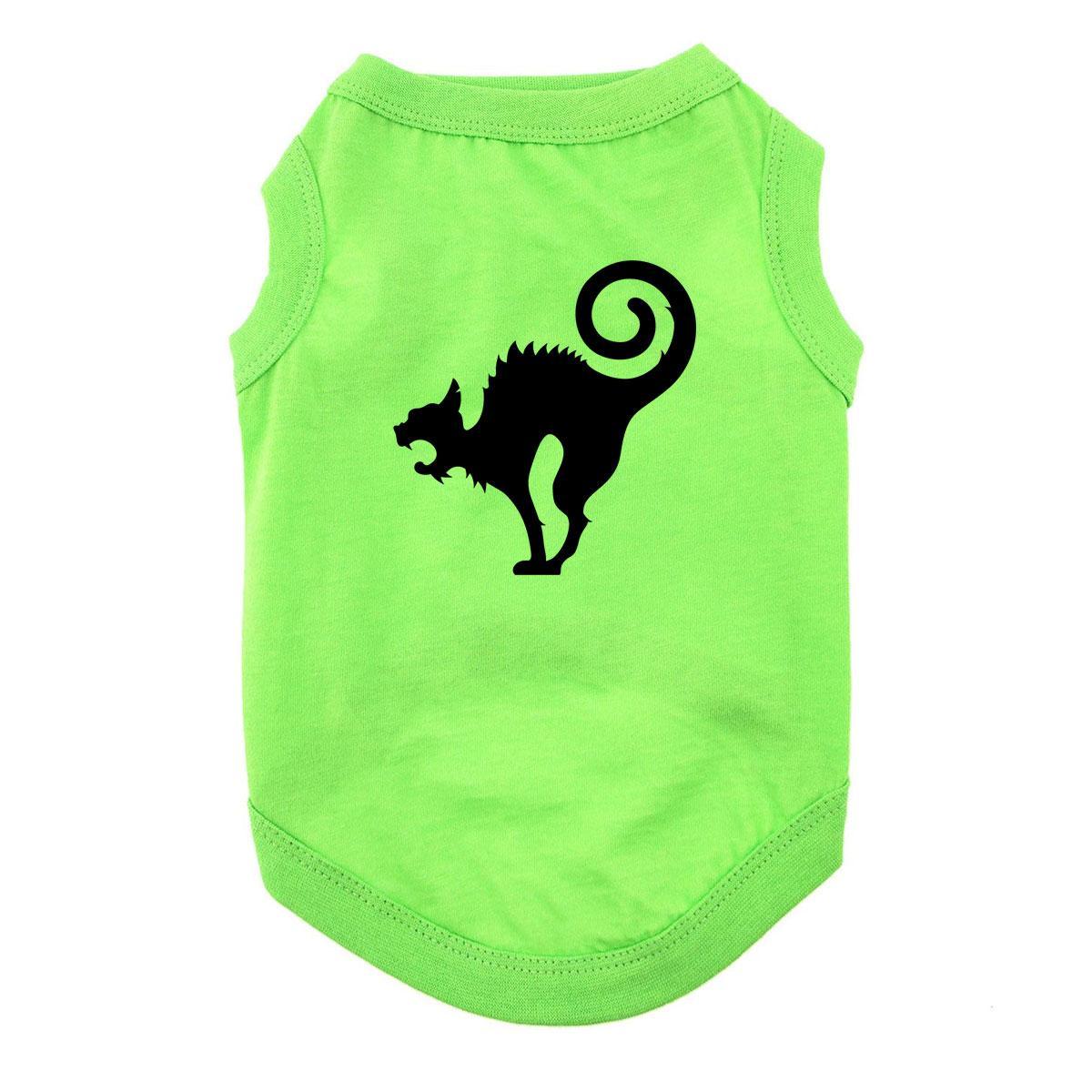 Scaredy Cat Halloween Dog and Cat Shirt - Green
