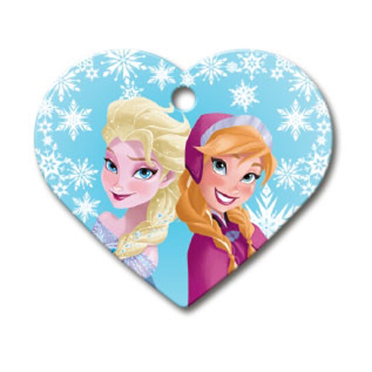 Frozen Heart Large Engravable Pet I.D. Tag