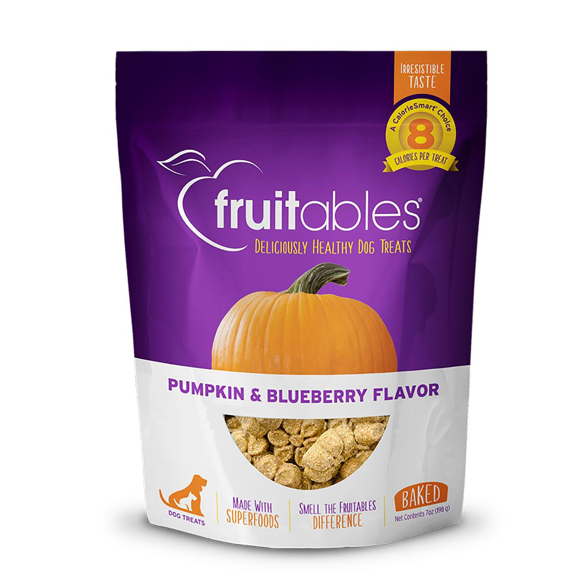 Fruitables Dog Treats - Pumpkin & Blueberry