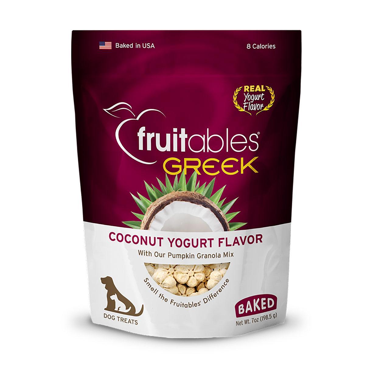 Fruitables Greek Yogurt Dog Treat - Coconut
