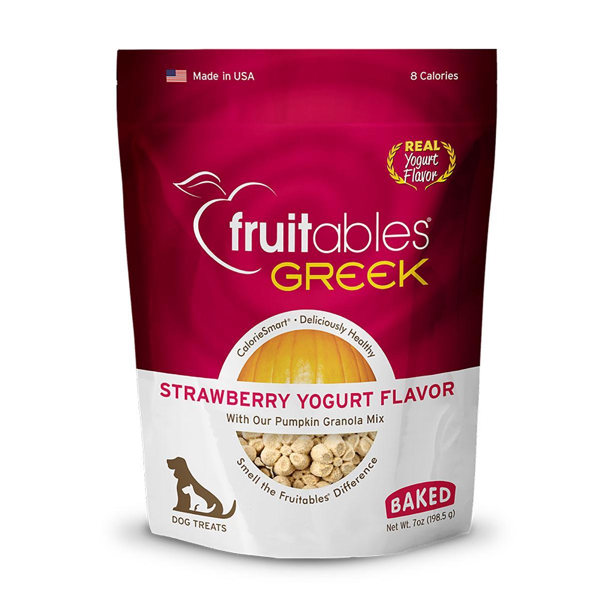 Fruitables Greek Yogurt Dog Treat - Strawberry