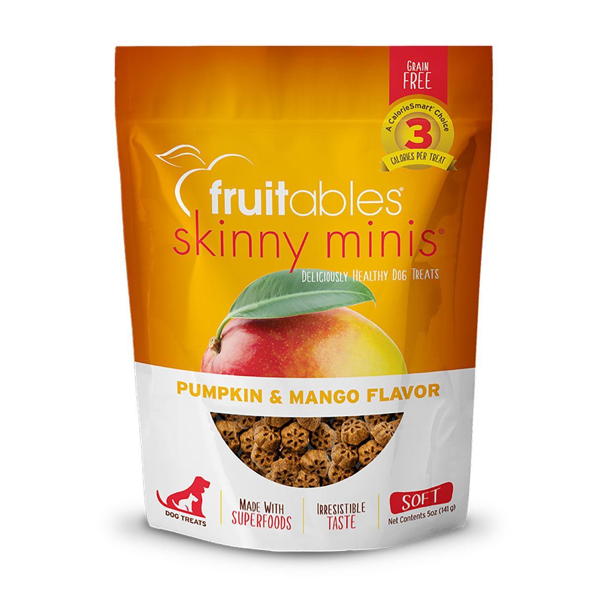 Fruitables Skinny Minis Dog Treat - Pumpkin/Mango