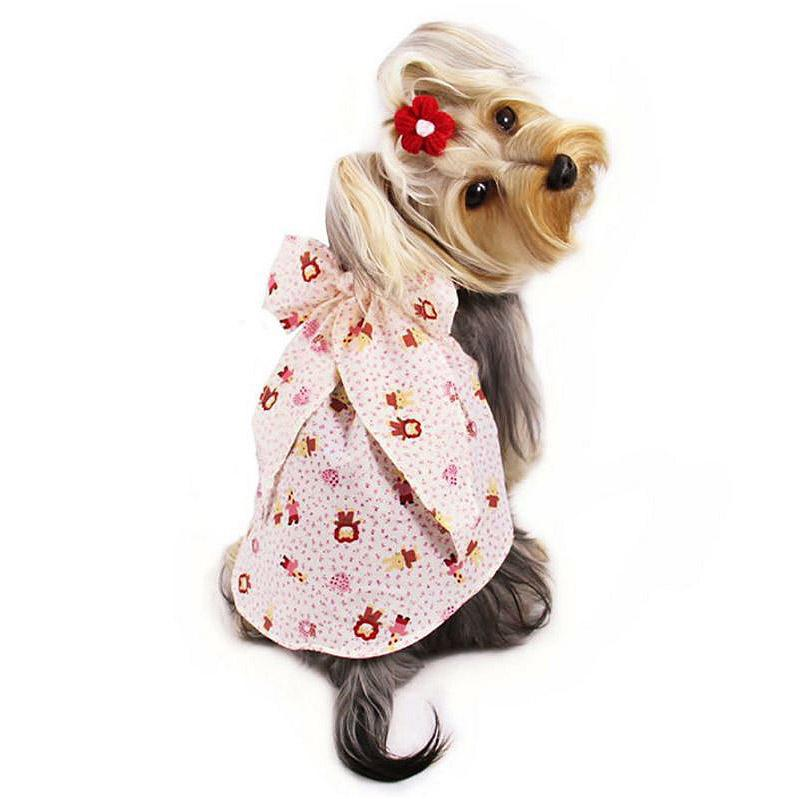 Fun Animal Dog Sundress with Large Bow by Klippo