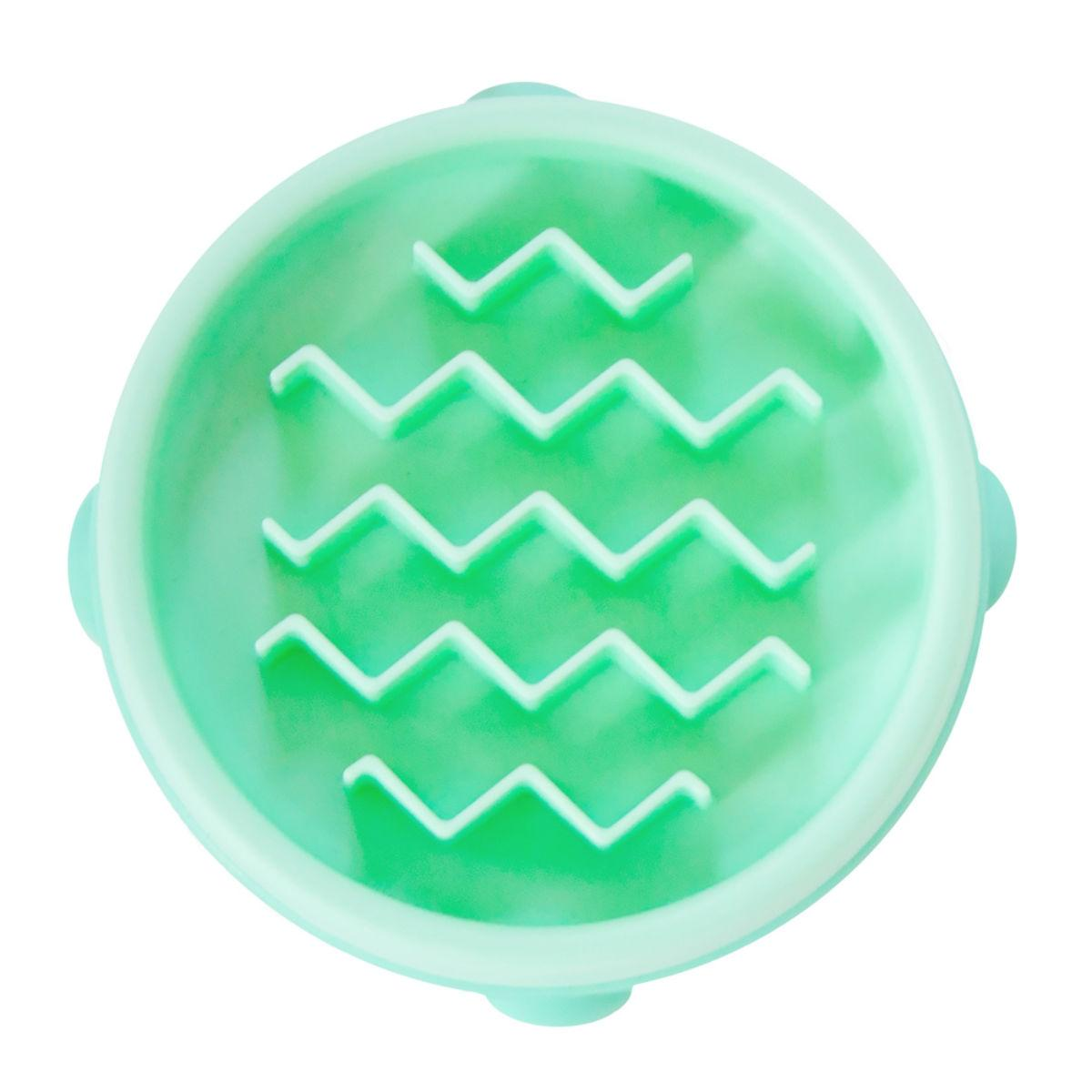 Fun Feeder Slow Feeder Dog Bowl - Mint Wave