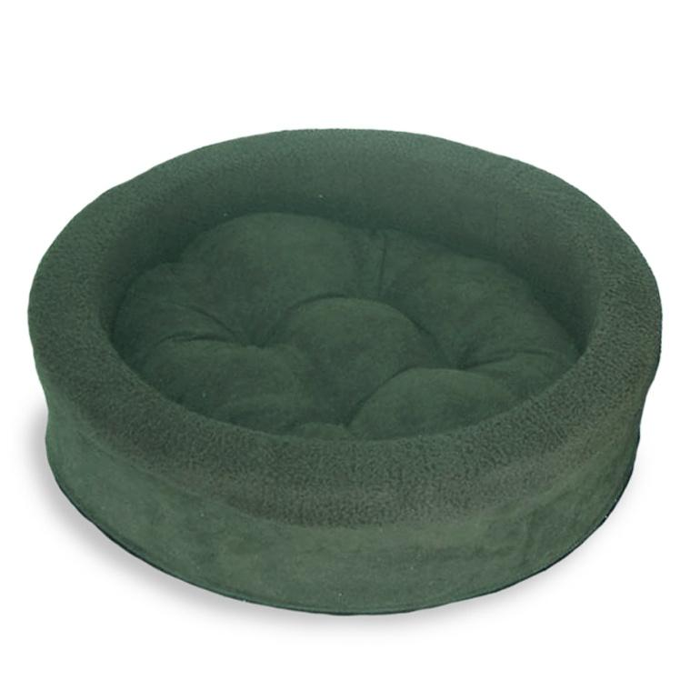 FurHaven Snuggle Terry & Suede Cup Pet Bed - Forest