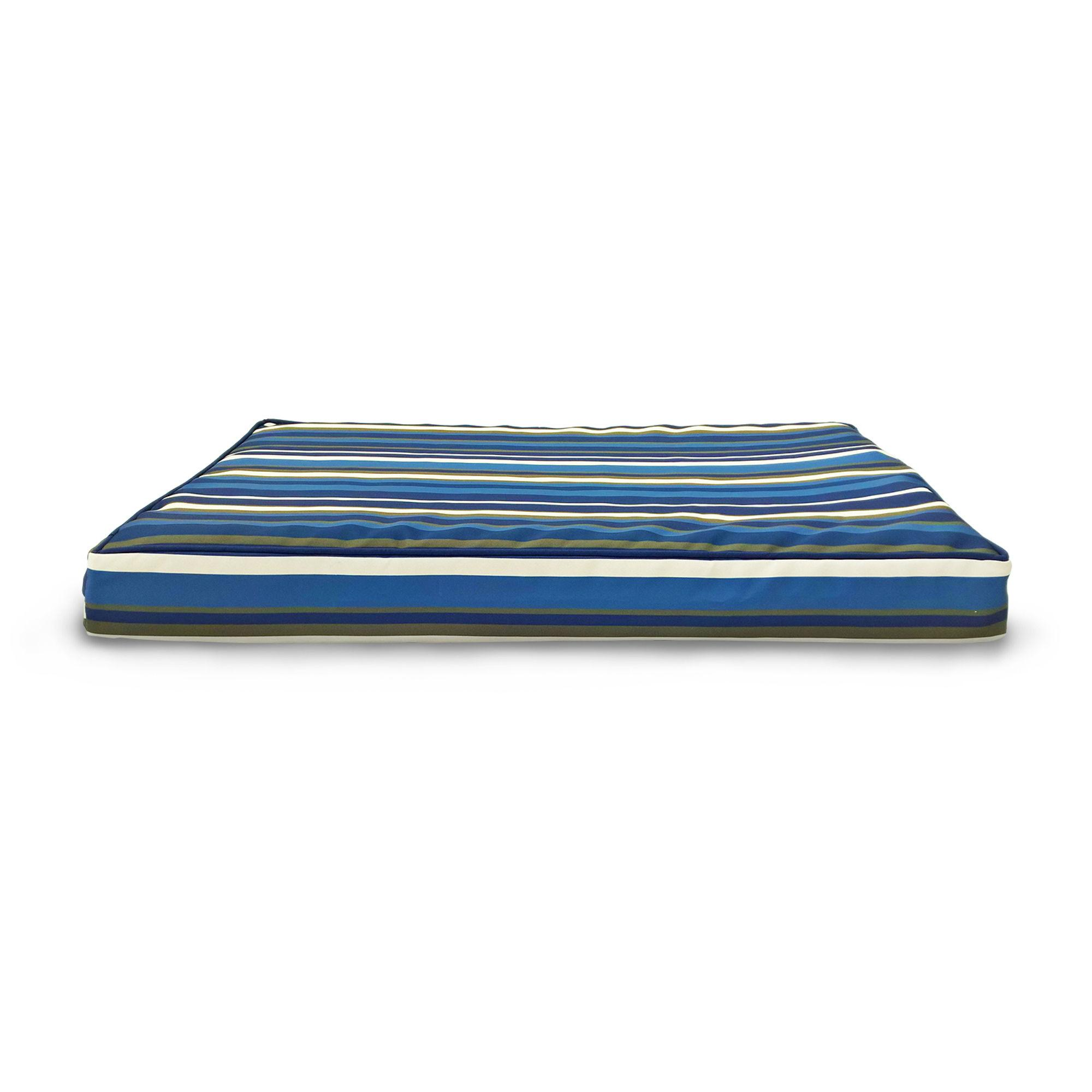 FurHaven Deluxe Indoor/Outdoor Print Orthopedic Pet Bed - Blue