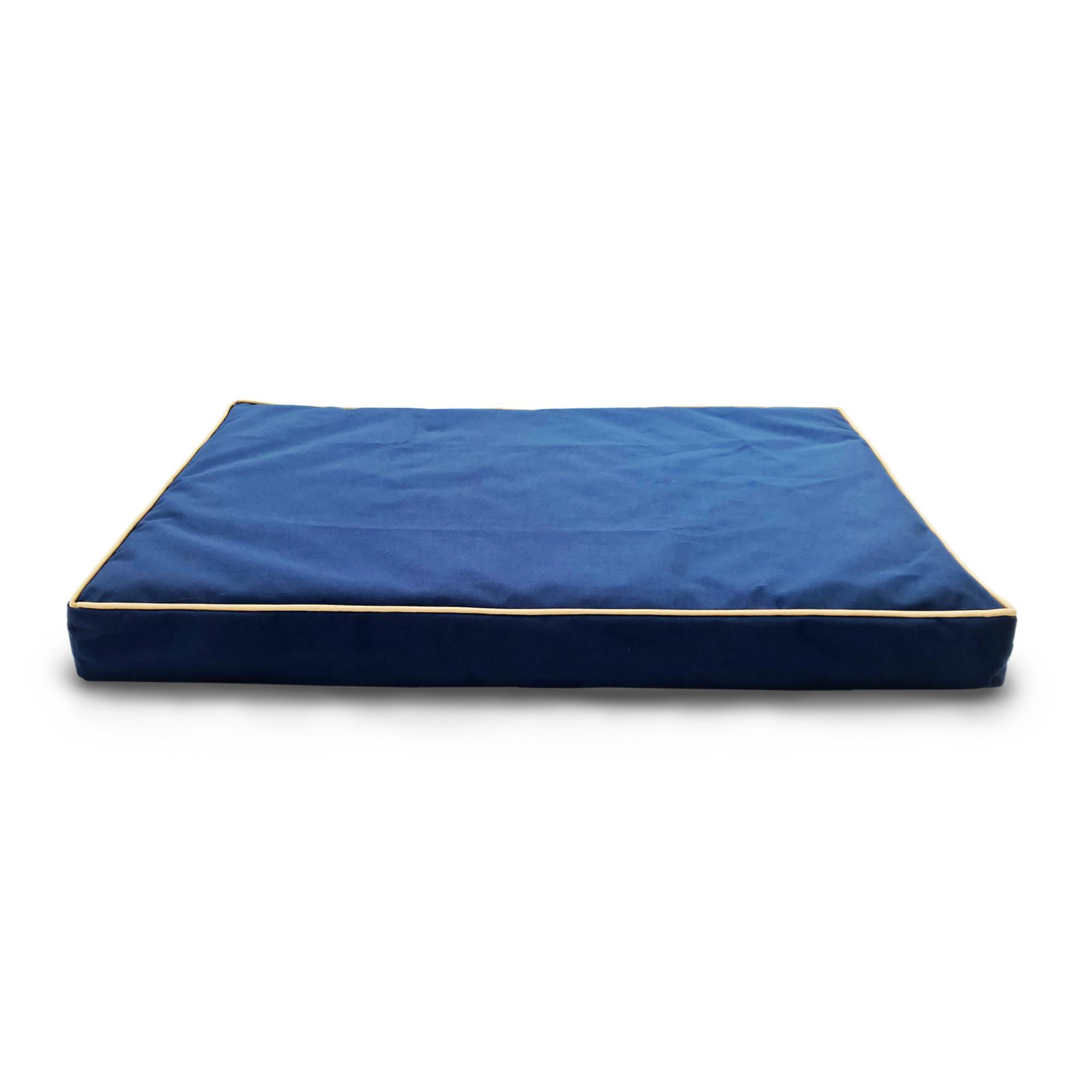 FurHaven Deluxe Indoor/Outdoor Solid Orthopedic Pet Bed - Blue