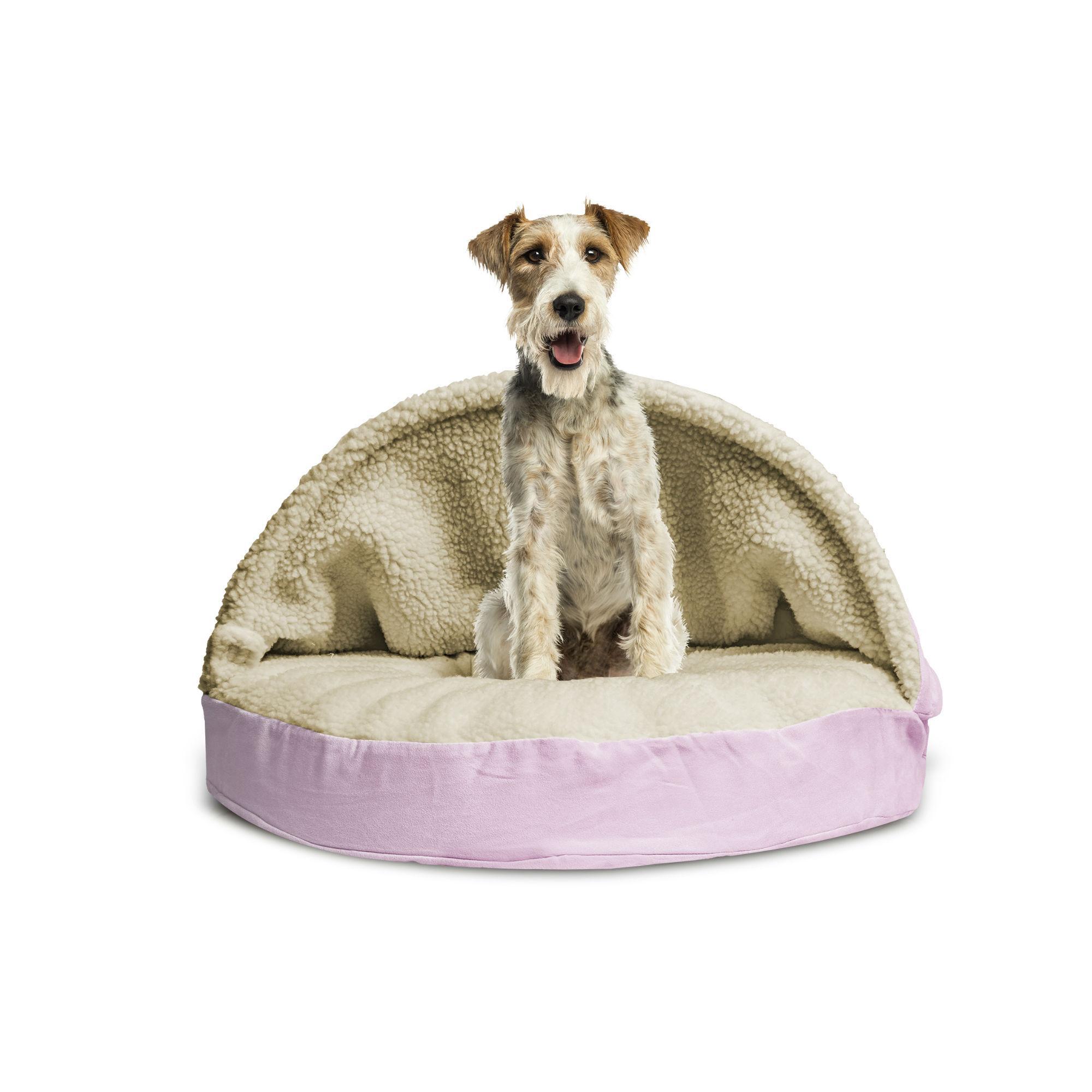 Furhaven Faux Sheepskin Snuggery Pet Bed - Pink