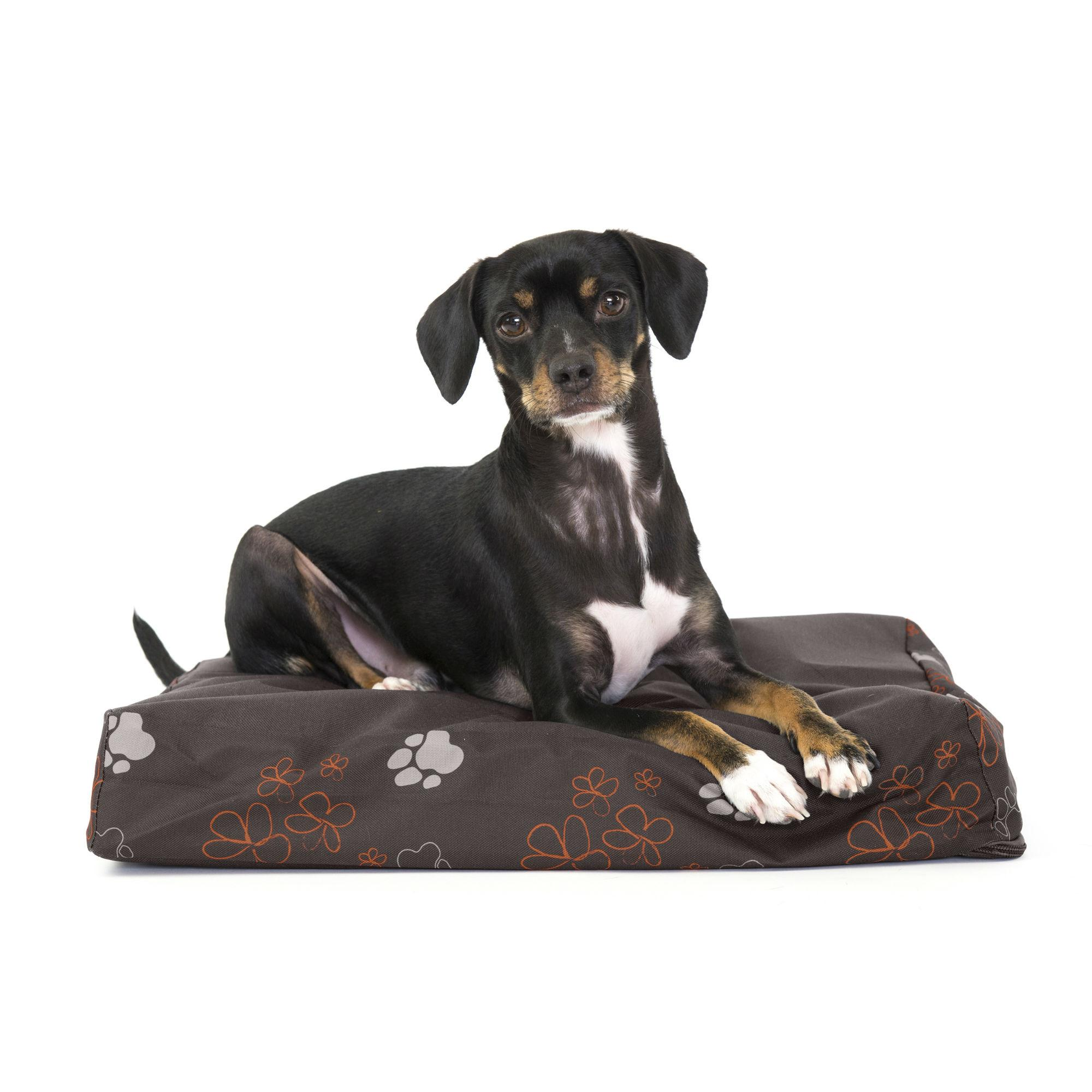 FurHaven Deluxe Indoor/Outdoor Garden Orthopedic Pet Bed - Bark Brown