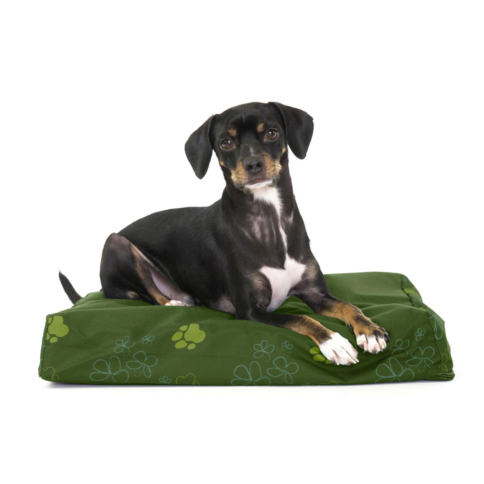 FurHaven Deluxe Indoor/Outdoor Garden Orthopedic Pet Bed - Jungle Green
