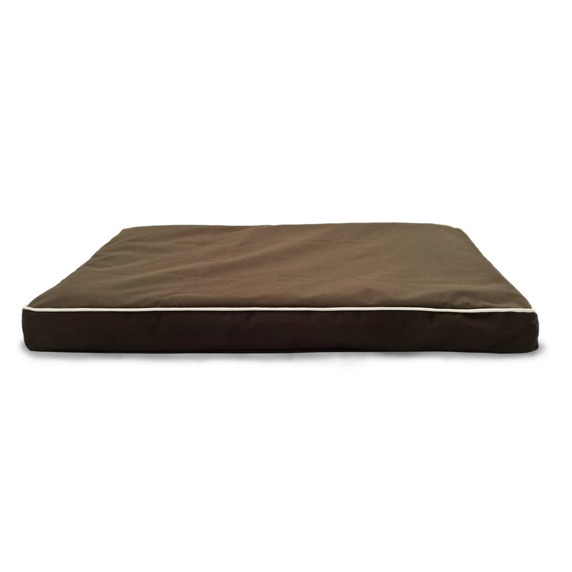FurHaven Deluxe Indoor/Outdoor Solid Orthopedic Pet Bed - Espresso