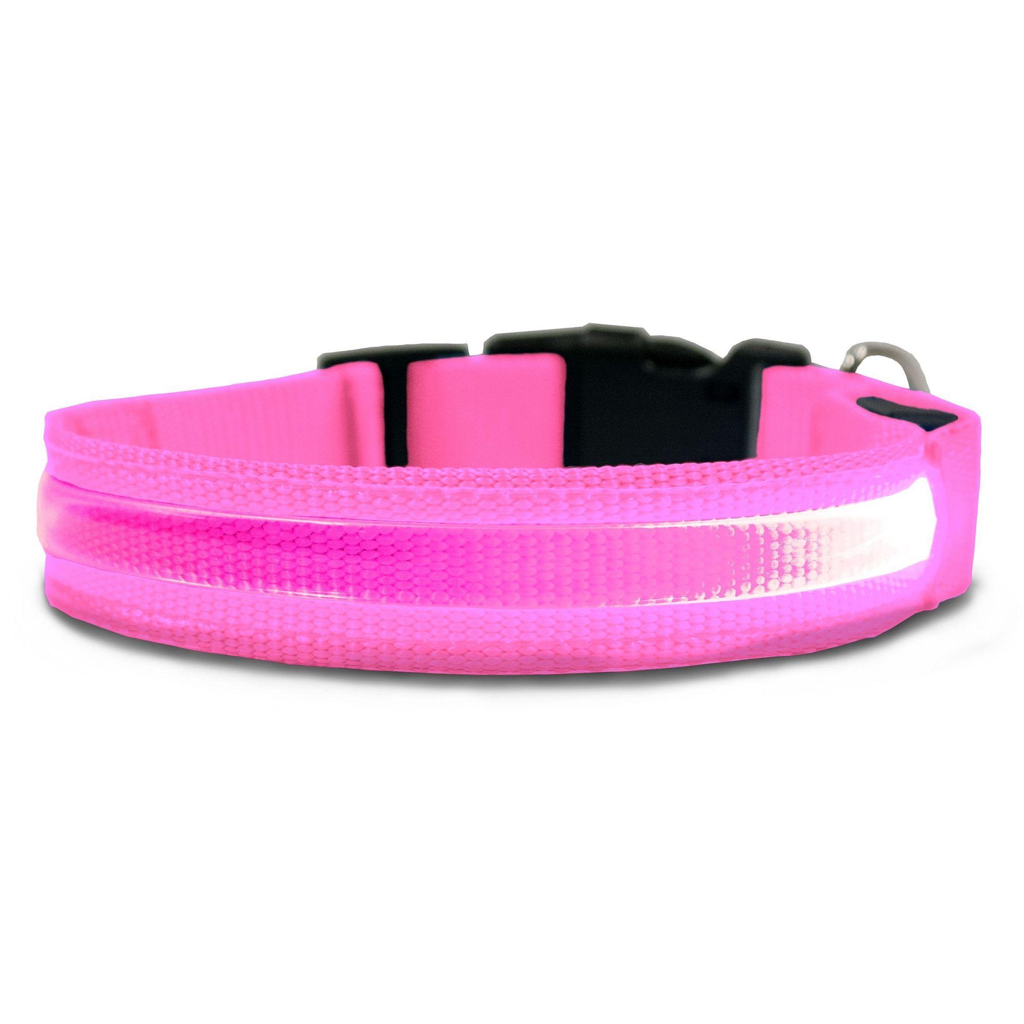 FurHaven LED Safety Pet Collar - Pink