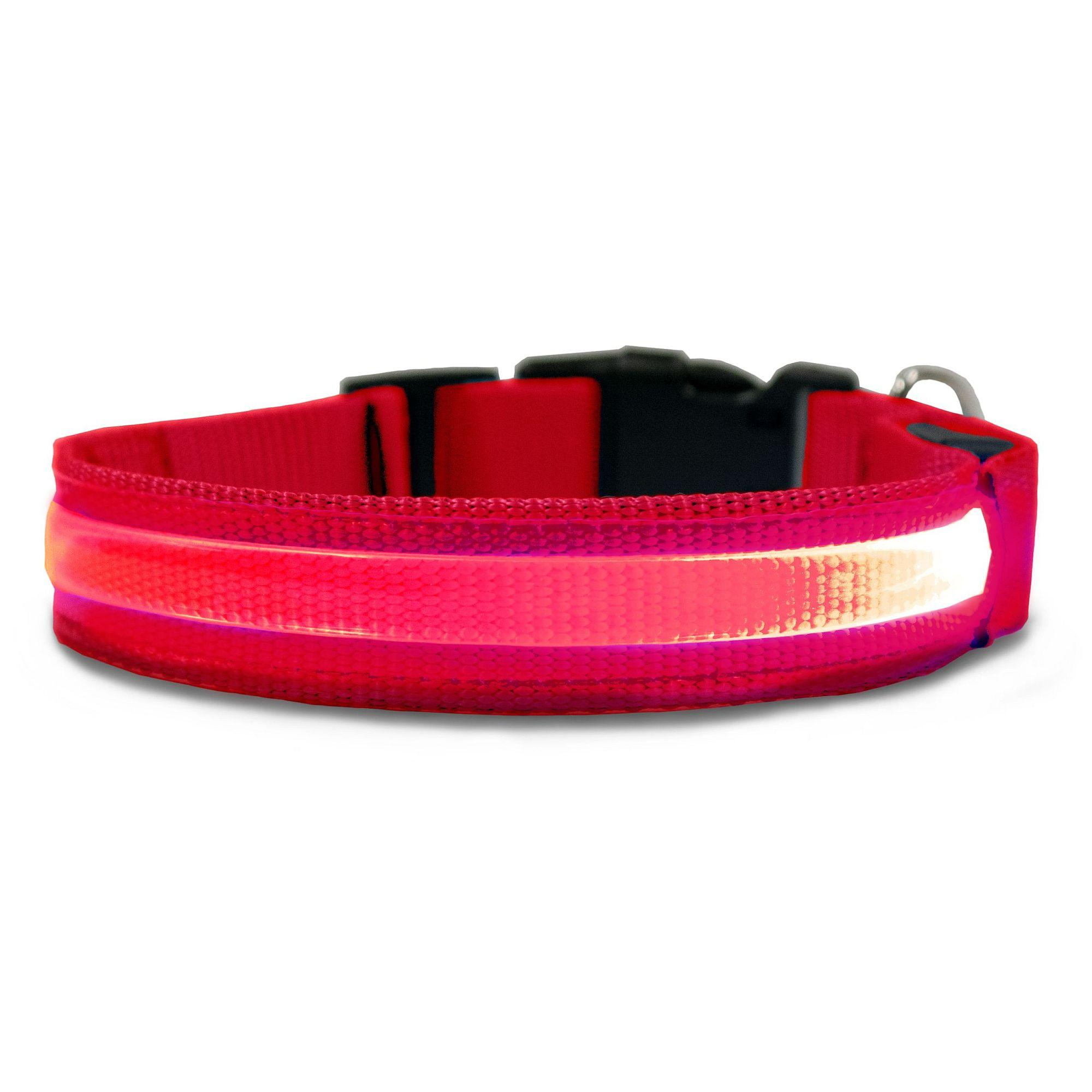 FurHaven LED Safety Pet Collar - Red