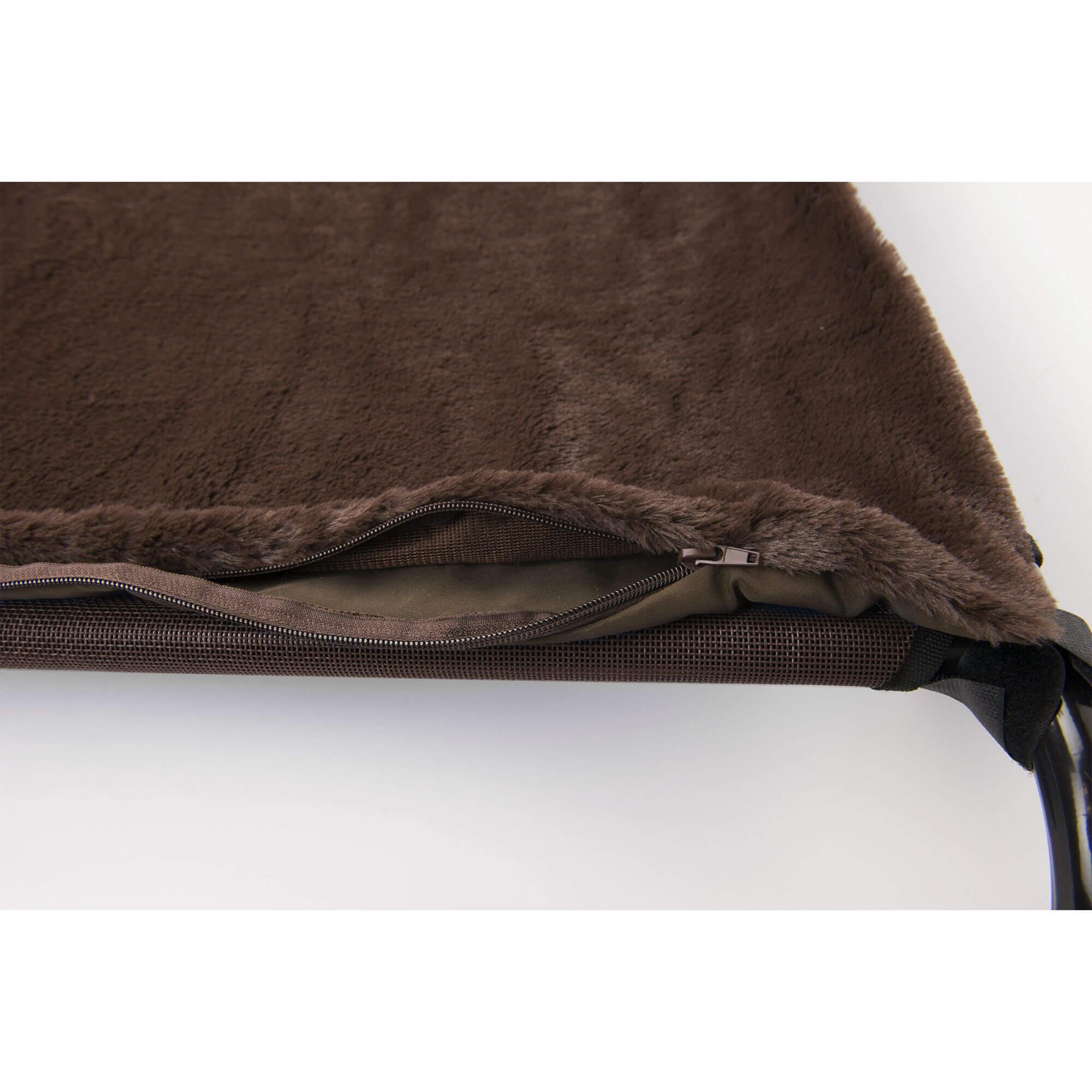 FurHaven Plush Pet Cot Blanket - Espresso