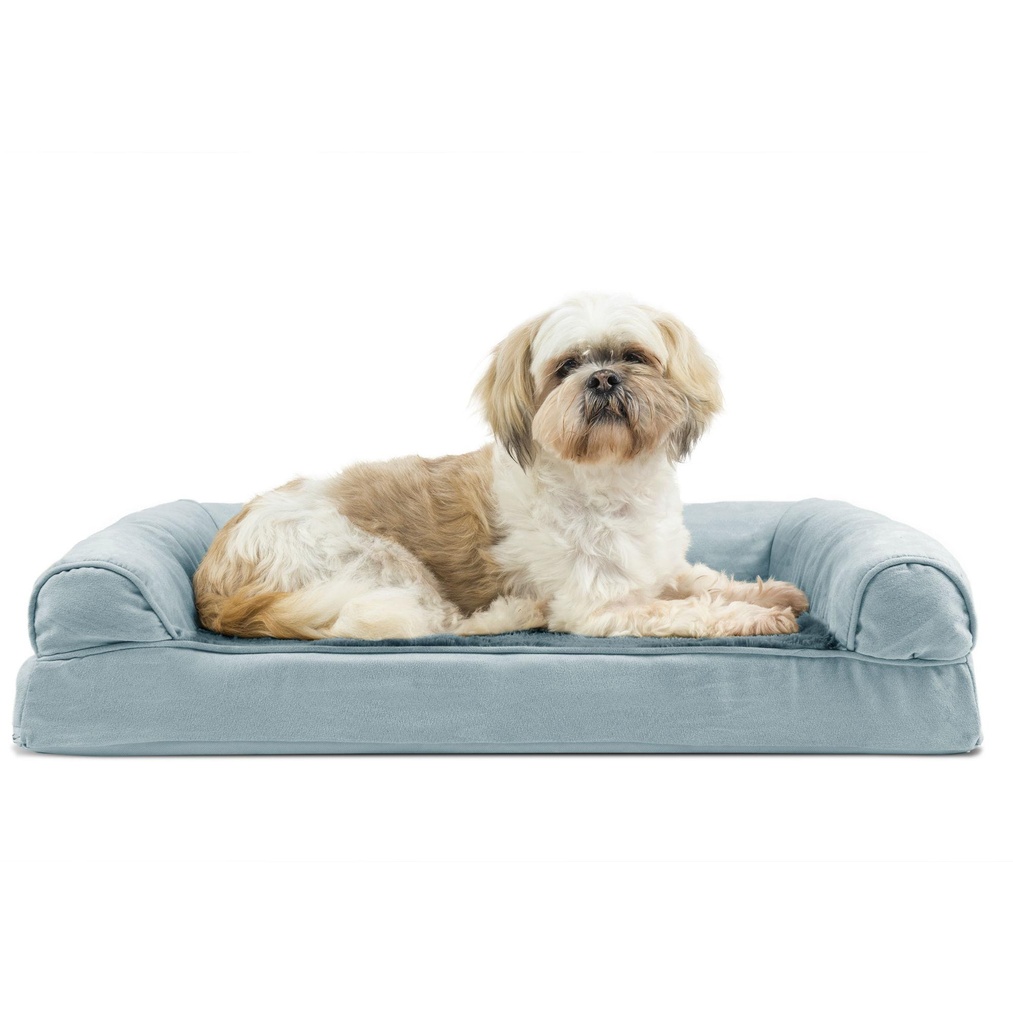 Furhaven Plush Suede Orthopedic Sofa Pet Bed Deep Pool