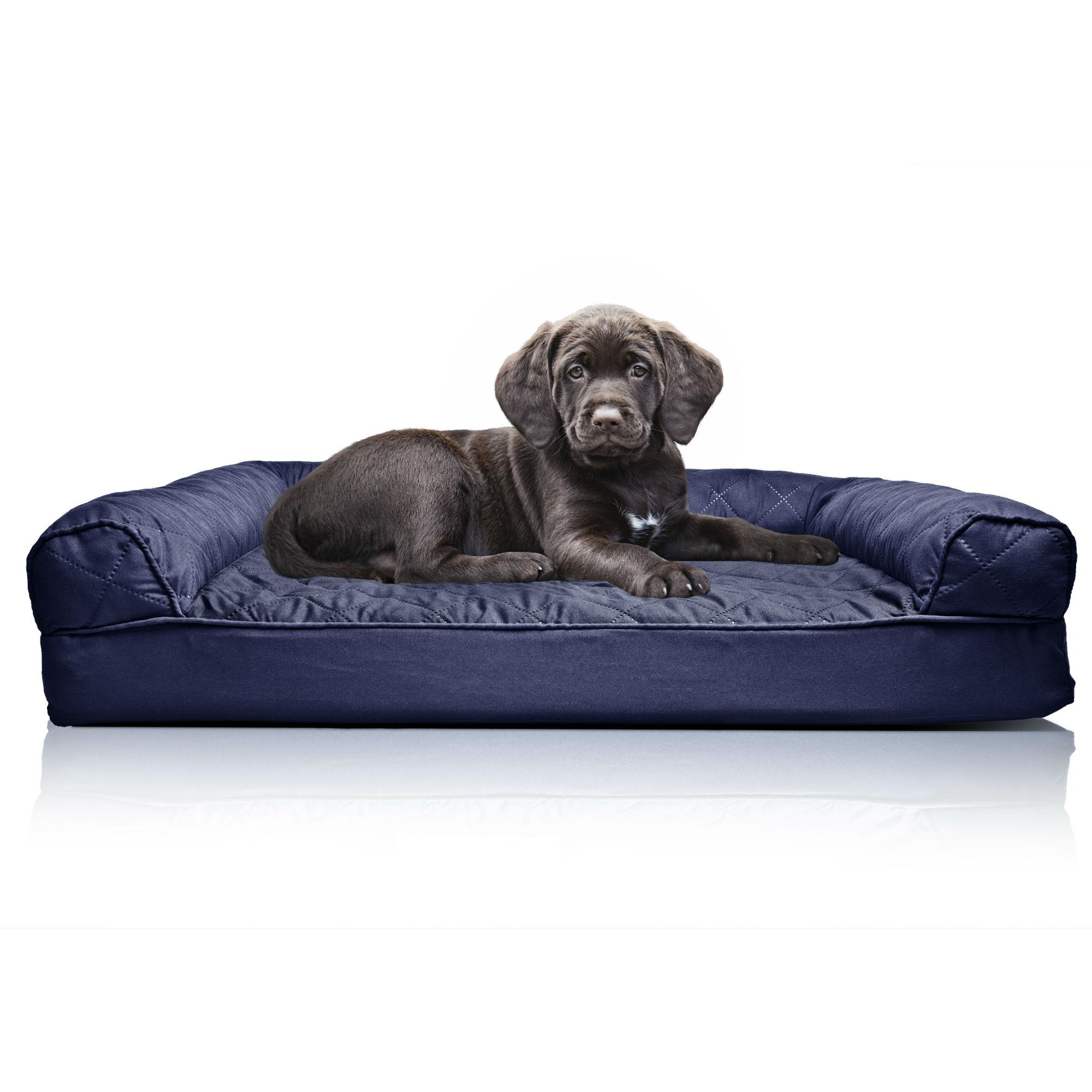 Furhaven Quilted Orthopedic Sofa Pet Bed - Navy