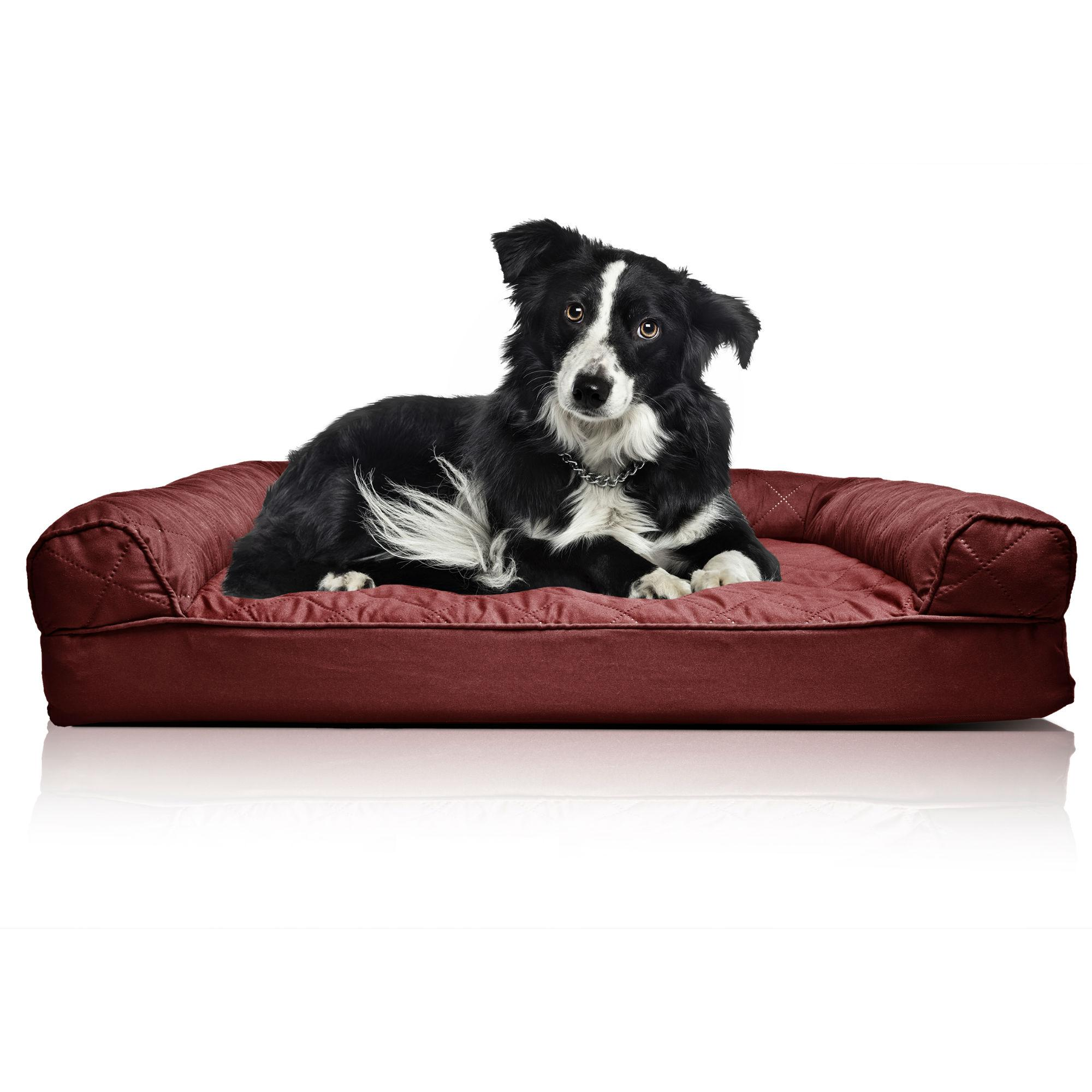 Stupendous Furhaven Quilted Orthopedic Sofa Pet Bed Wine Red Gmtry Best Dining Table And Chair Ideas Images Gmtryco