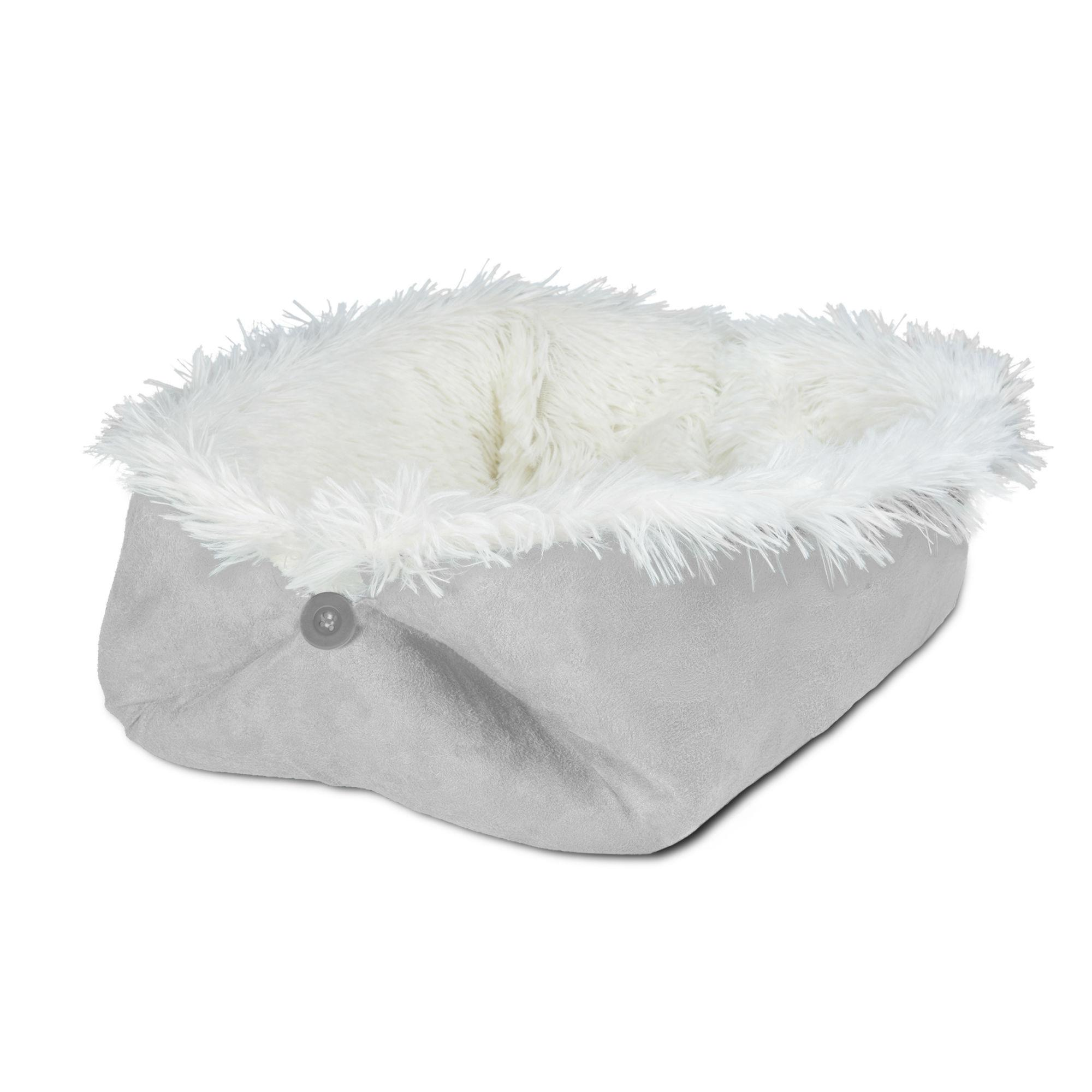 FurHaven Self-Warming Convertible Cuddle Pet Bed & Mat - Silver