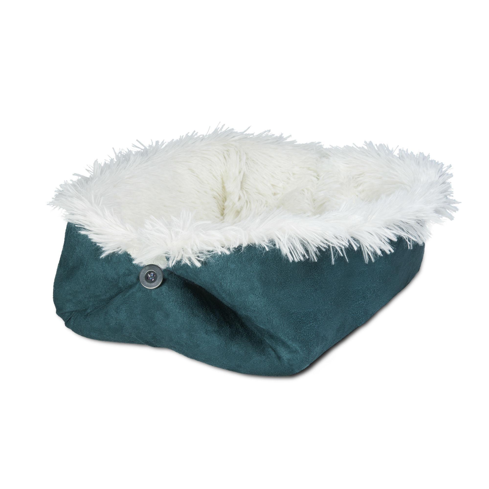 FurHaven Self-Warming Convertible Cuddle Pet Bed & Mat - Spruce