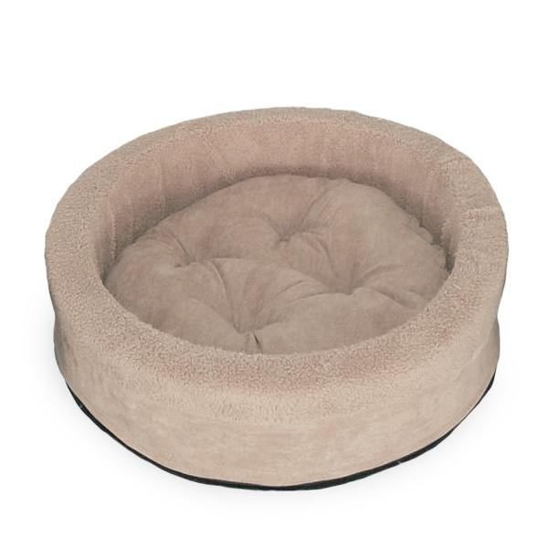 FurHaven Snuggle Terry & Suede Cup Pet Bed - Clay