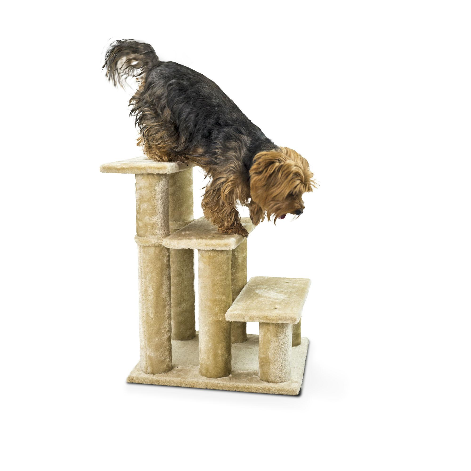 Furhaven Steady Paws Pet Stairs - Cream