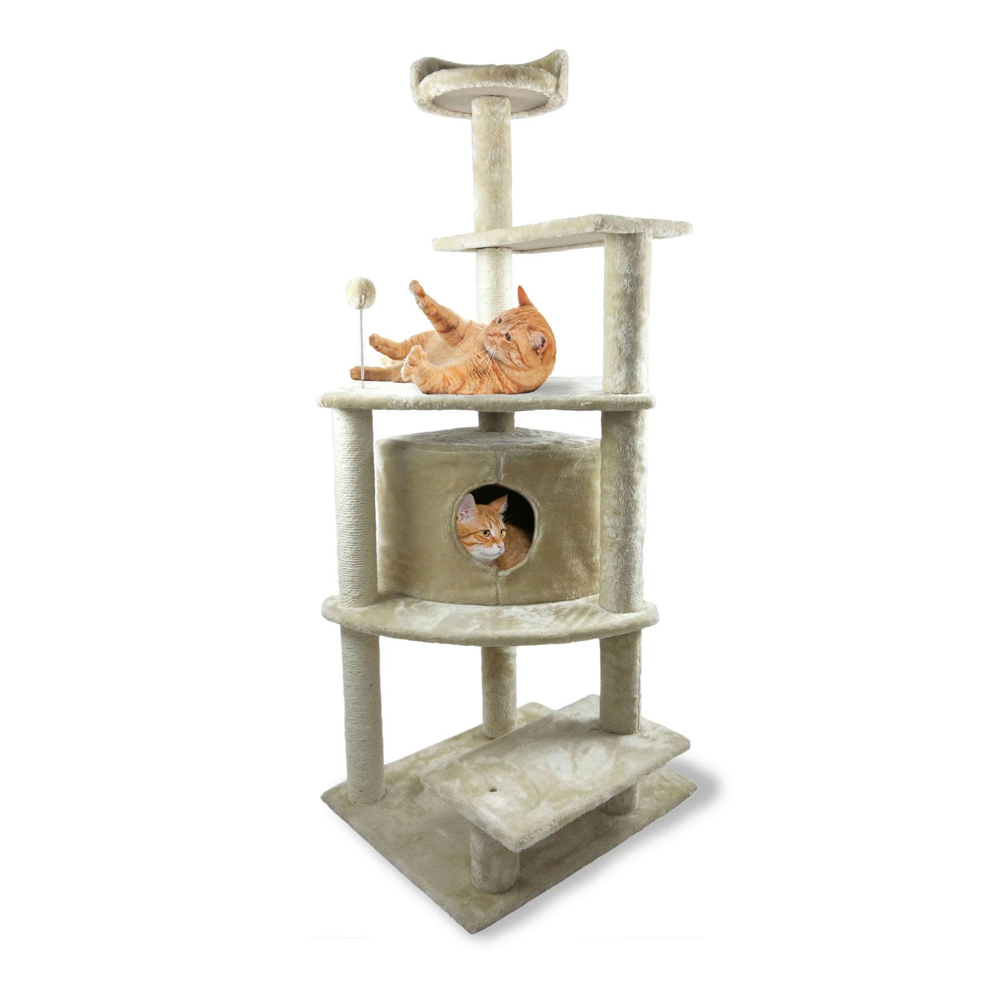 Furhaven Tiger Tough Platform House Cat Playground