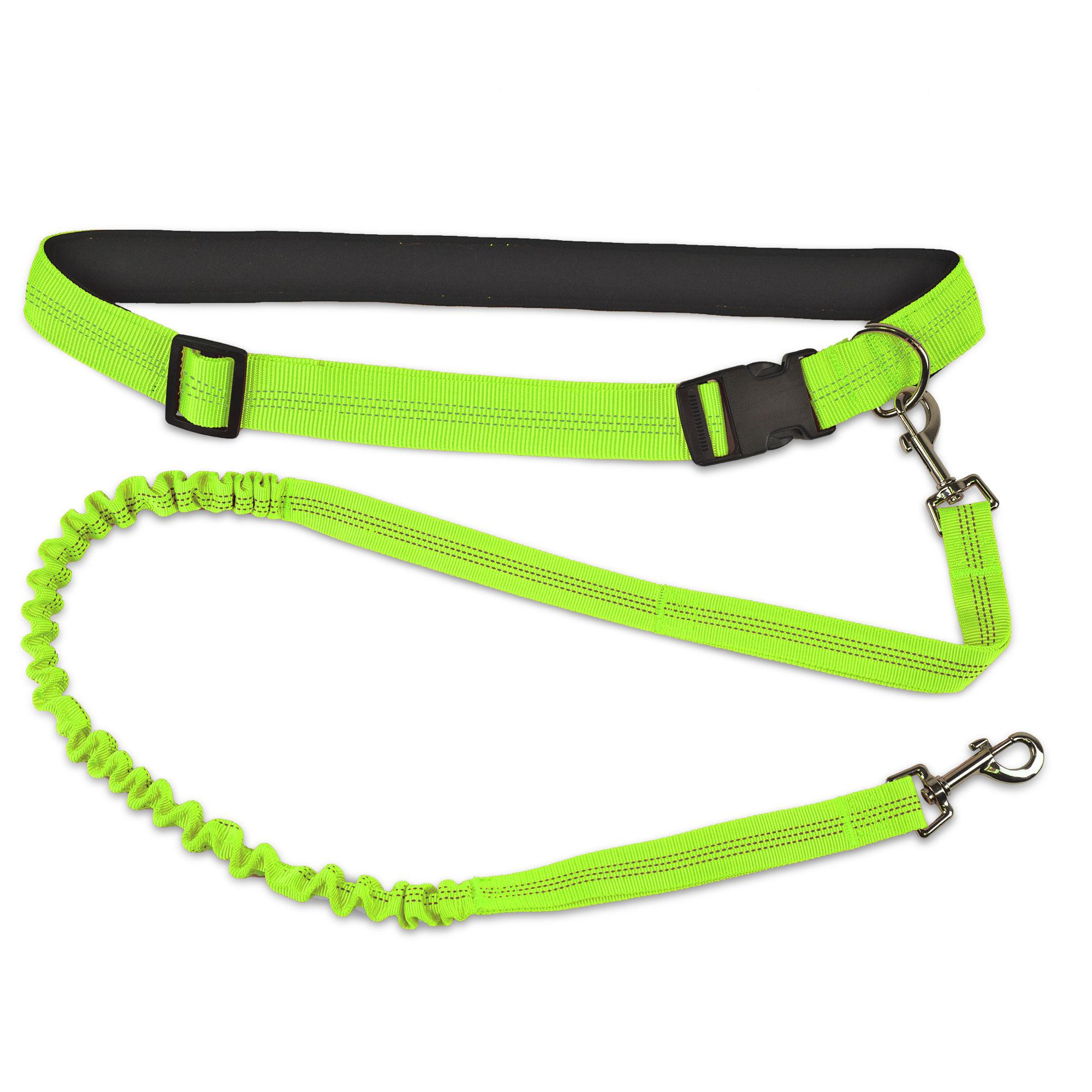 FurHaven Trail Pup Hands-Free Dog Leash - Neon Green