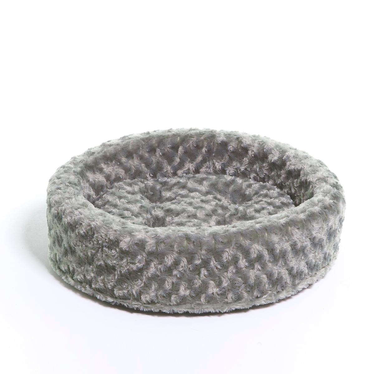 FurHaven Ultra Plush Cup Pet Bed - All Plush - Gray