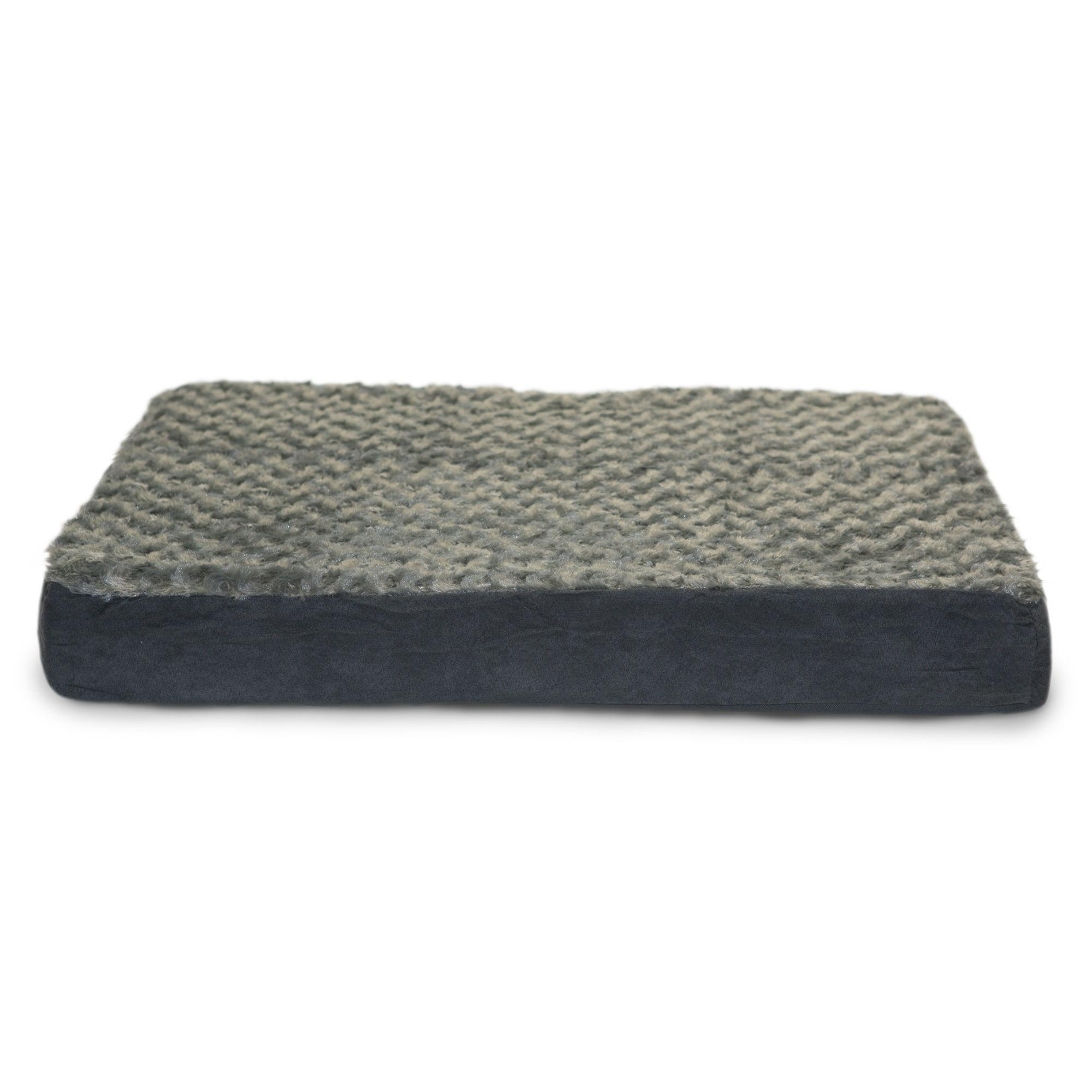 FurHaven Ultra Plush Deluxe Cooling Gel Top Pet Bed - Gray