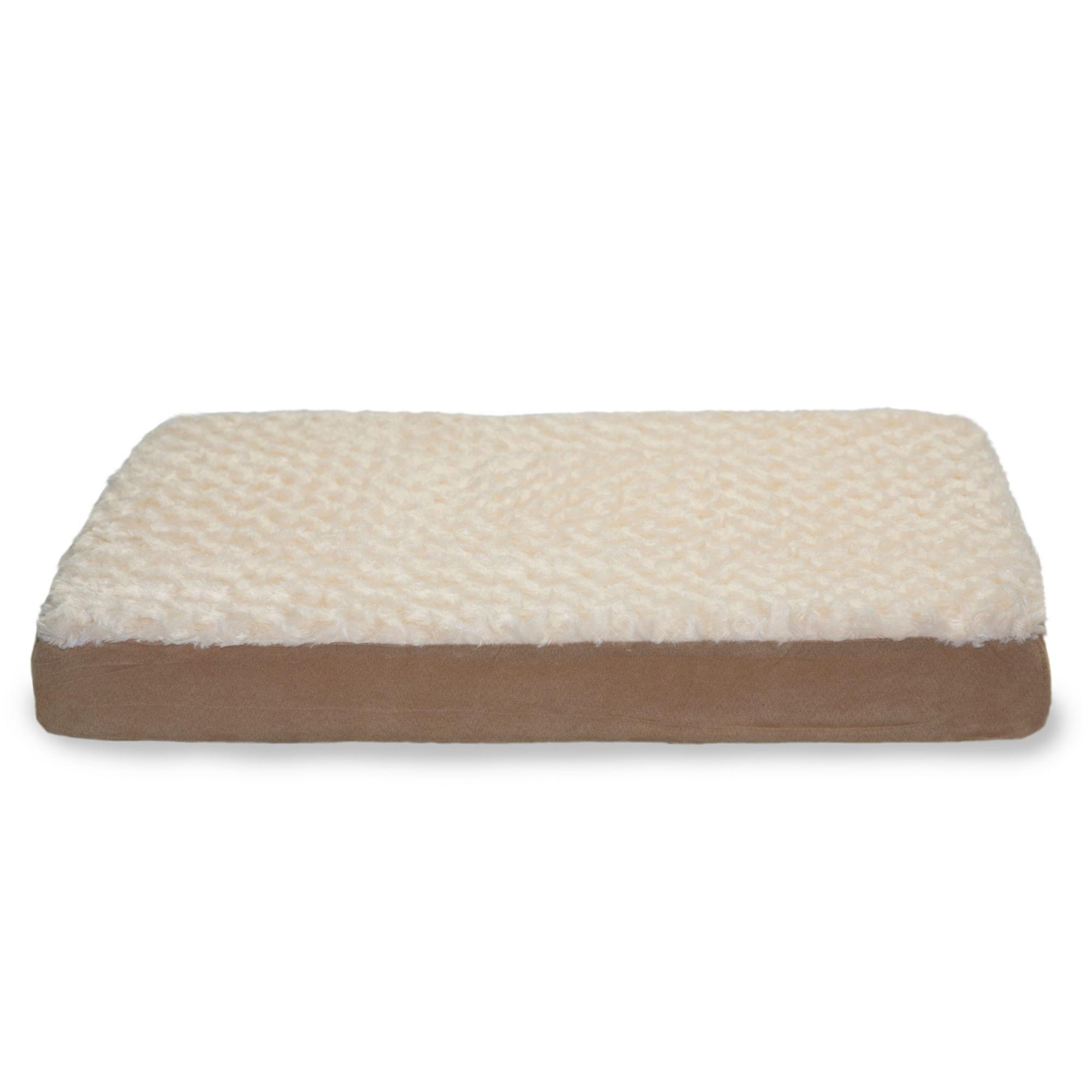 FurHaven Ultra Plush Deluxe Cooling Gel Top Pet Bed - Cream
