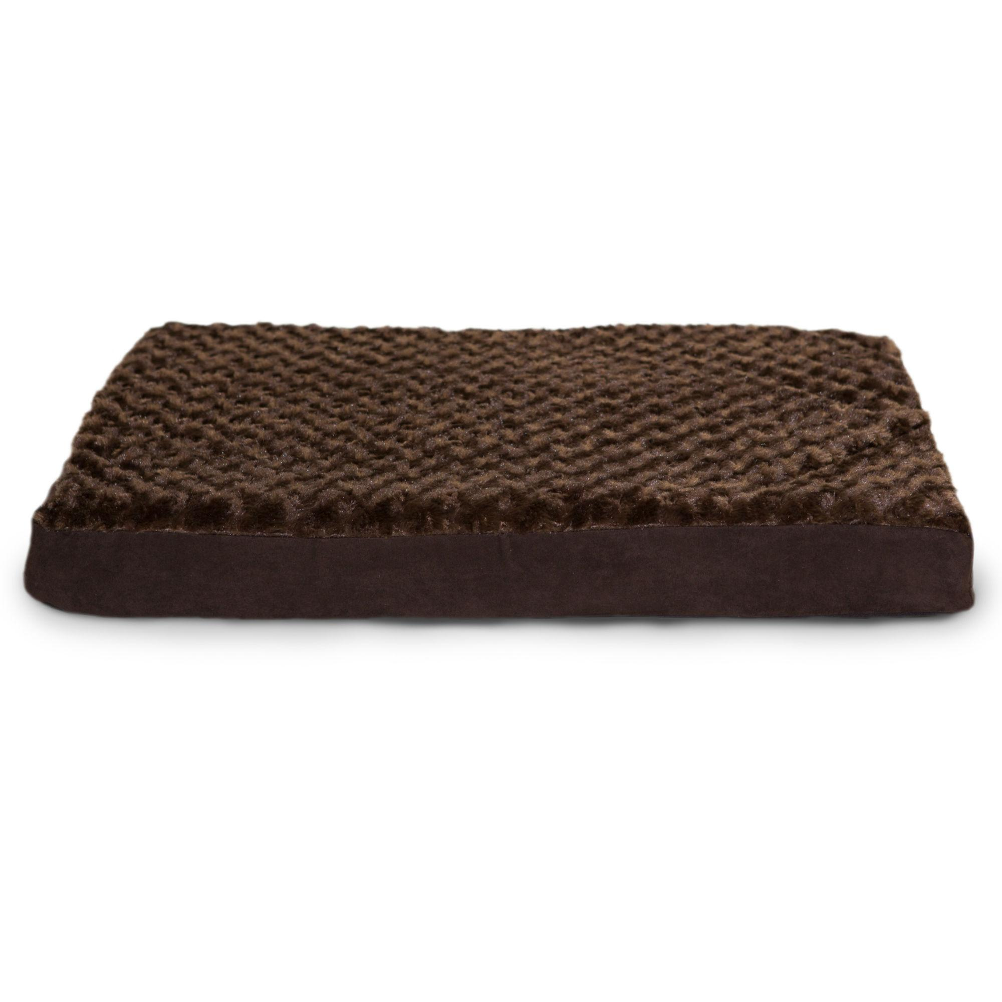 FurHaven Ultra Plush Deluxe Cooling Gel Top Pet Bed - Chocolate