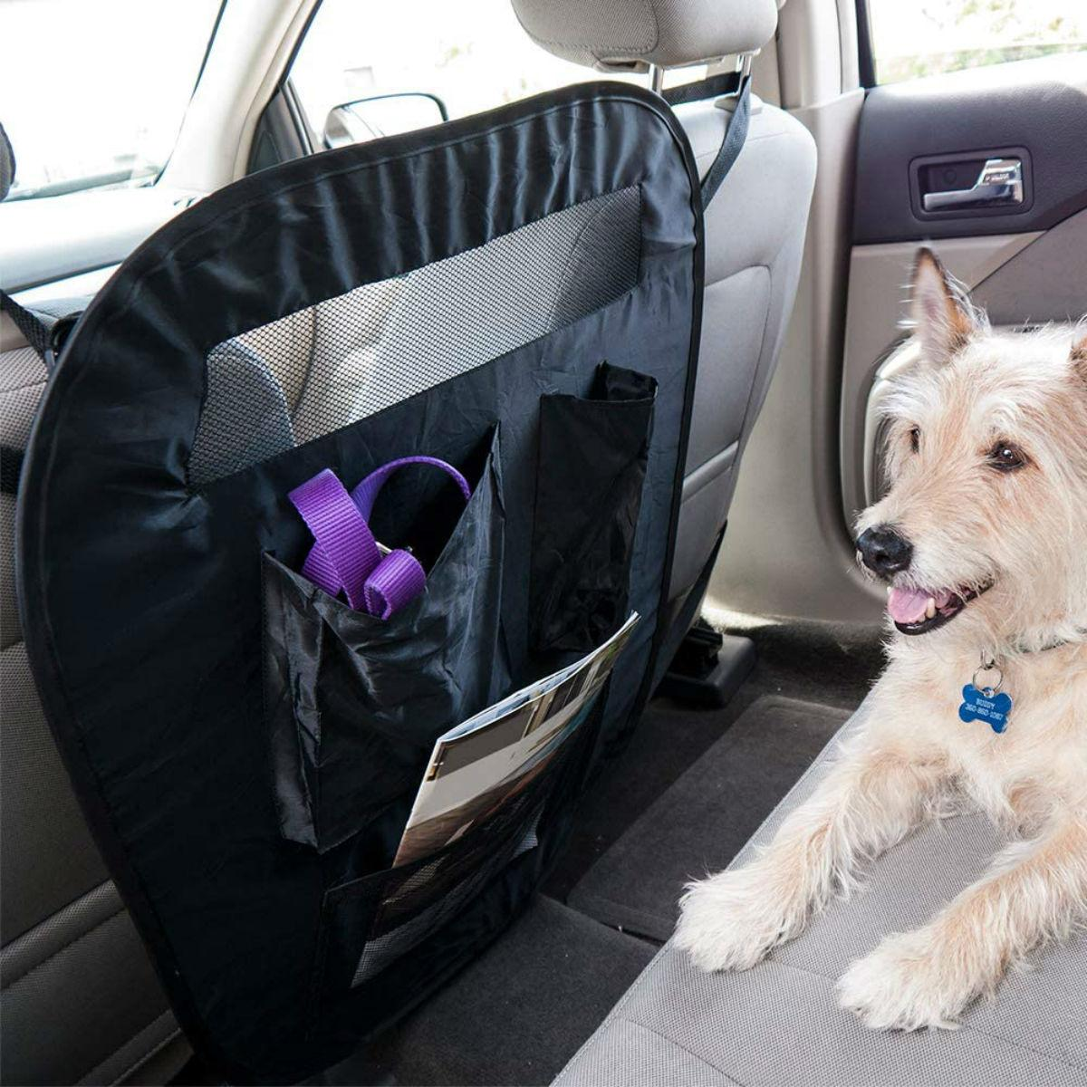 FurHaven Universal Pop-Up Pet Car Seat Barrier with Accessory Storage Bag